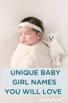 everymum – The Parenting Community Connecting & Celebrating Every Mum – everymum A baby name as unique as your beautiful baby girl. These baby names for girls are a perfect mix of rare and gorgeous – we think you'll love them. Latest Baby Girl Names, Rare Baby Girl Names, Vintage Baby Names, Modern Baby Names, New Baby Names, Unisex Baby Names, Celebrity Baby Names, Popular Baby Names, Cute Baby Names