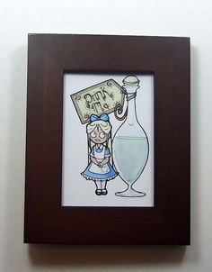 Creepy cute Alice in Wonderland art ACEO print by AwesomeStation, $3.75