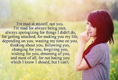 Cool I'm mad at myself…. Best Quotes Life Check more at http://bestquotes.name/pin/131301/