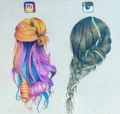 Instagram [as hair] (Drawing by Unknown) #SocialMedia
