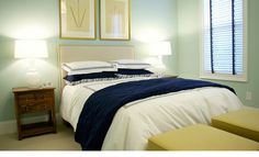 white bed with some color... maybe for my white and brown @Bryn Dunn