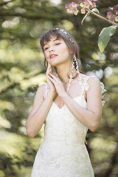 Bohemian Brautkleid Pakuna Seide, wedding dress silk