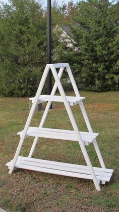 Wooden A-Frame Ladder Shelf  Quilt rack  Plant by ItsPlaneSimple
