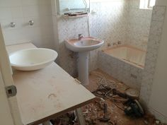 Bathroom after Day 1