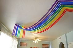 SO doing this.for Jayla's birthday! .... Genius!... Over The Rainbow {1st Birthday Party}....