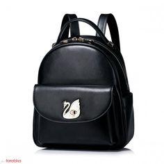 Plecak kolekcja z łabędziem Czarny