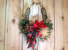 Christmas Horseshoe Ornament, Celtic Christmas Horseshoe, Rustic Christmas, Irish Christmas, Scottish Christmas,Celtic Christmas Wedding