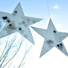 ☆ stars ☆ made of transparent paper. Christmas Star, Winter Christmas, Christmas Crafts, Star Decorations, Christmas Decorations, Christmas In England, Stars Craft, Homemade Christmas Cards, Theme Noel