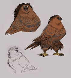 This concept art of Maui in his eagle form Disney's Moana is stunning.