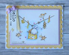 Look what's on the Washing line. Its a bunny, a baby bunny. This is another of the New Beginnings digital stamps from Lili of the Valley . Baby Bunnies, Bunny, Lily Of The Valley, Digital Stamps, Baby Cards, Cute Cards, Digital Image, Line, Card Making