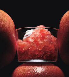 from bon appétit grapefruit campari granita with vanilla whipped ...