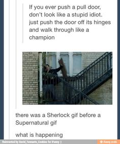 Sherlock beat Supernatural with the gif