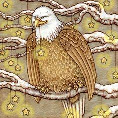 Christmas Eagle by AutumnAlchemy on DeviantArt - Rosie Lauren Smith