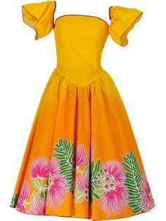 Shop now www.hula-ohana.com    #huladance #hulagirl #huladancer #aloha #ohana #dress #setup #yellow #summer #ocean #beach #tokio #funabashi #woman #dance #dancer #フラダンス #fasion #hawaii #hawaiian #hawaiiandance #hawaiianstyle Hawaiian Costume, New Dress Pattern, Hula Dancers, Goth Dress, Hula Girl, Ohana, Fasion, Island, Summer Dresses