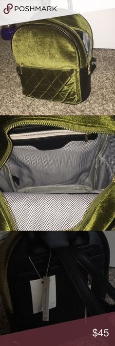 I just added this listing on Poshmark: Velvet and faux leather backpack. #shopmycloset #poshmark #fashion #shopping #style #forsale #Steve Madden #Handbags