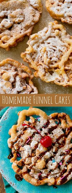 Here's exactly how to make homemade funnel cakes! You only need a few basic ingredients to get started. Recipe on…