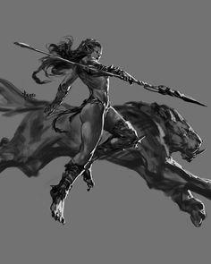 Orc by Bayard Wu_Imaginary Orcs Orc Warrior, Fantasy Female Warrior, Fantasy Women, Fantasy Girl, Dark Fantasy, Fantasy Character Design, Character Inspiration, Character Art, Female Orc