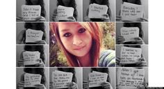 Harrowing messages displayed in her video