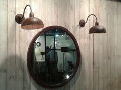 espejo circular y lamp aplique Almaceneras
