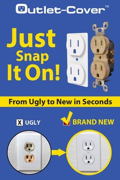 Now that you have repainted, update your outlet color using our Outlet Covers in 3 easy steps:  Step 1: Turn off power Step   2: Remove wall plate and add cover   Step 3: Reinstall wall plate.  #homeimprovement #homeupdates #homerenovation #homemakeover #outletcover #outlet #poweroutlet #powersocket #electrician #housegoals #homedecor #acehardware #diyhome Electrical Outlet Covers, Electrical Outlets, Electrical Wiring, Room Kitchen, Diy Kitchen, Kitchen Ideas, Dining Room, Diy Furniture Renovation, Apartment Painting