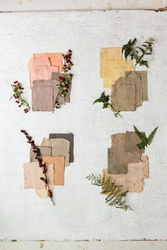 Color Beauty : FleaingFrance....a growing fascination of mine....Naturally dyed swatches