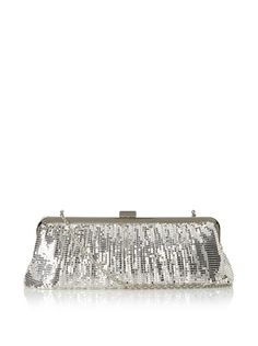 Beyond 50% OFF discounted Whiting & Davis Women's Contemporary Shirring Clutch (Silver)