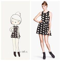 My fav H&M cat dress!! catplusmouse