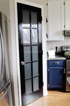 Pantry door. Chris Loves Julia: DIY Etched Glass Windows