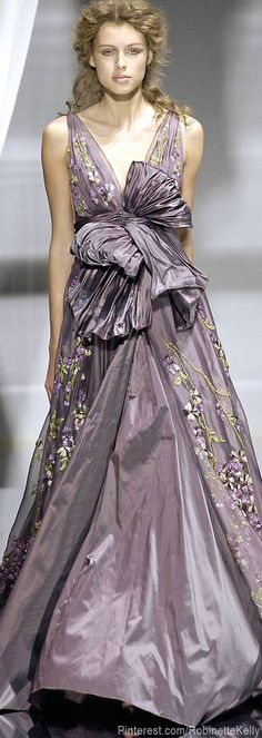 Zuhair Murad.  Pale purple couture gown