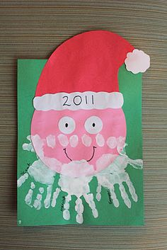 Handprint Santa - great Christmas craft idea!