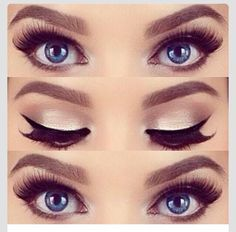 We <3 this! Subtle silver with bold, black eye liner. Great look for prom!