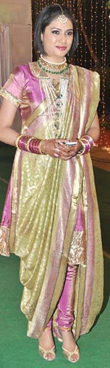 Hyderabadi Khada Dupatta in an interesting colour combination