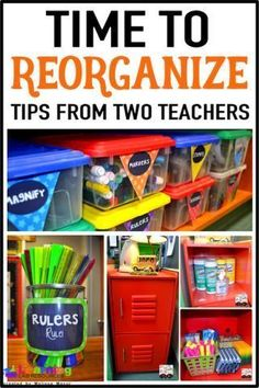 Classroom organization through the eyes of two teachers!