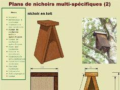 Plan de nichoir à oiseaux - Nichoirs.net D.R. - http://www.nichoirs.net/