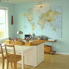 Ikea map for school room hope I can find one at IKEA Australia