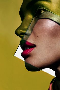 Top Beauty Fashion Photographers-Celebrity Editorials Vogue Advertising Professional Commercial: Yadim Makeup Artist Plexiglass Graphic Colorful Dramatic Shadow Beauty Shoot with Model Camila Costa