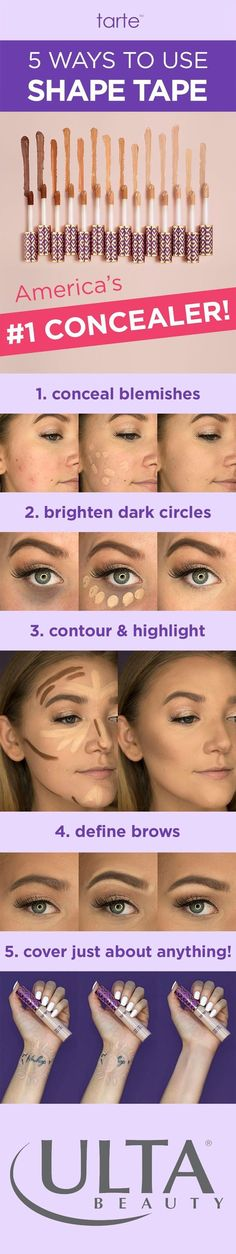 Have you tried America's Number 1 concealer yet? Double Duty Beauty Shape Tape concealer from tarte - Sculpt and highlight as you mask imperfections with this full coverage concealer. Brown Spots On Skin, Skin Spots, Shape Tape Contour Concealer, Contouring And Highlighting, Tapas, Tarte Cosmetics, Beauty Secrets, Beauty Hacks, Beauty Ideas