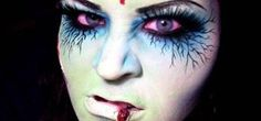 """How to Apply zombie or """"dead girl"""" makeup for Halloween « Makeup - I don't agree with a lot of things as far as a """"zombie"""" looks go. I'm more interested in some elements of the eye makeup..."""