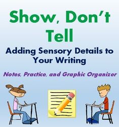 This resource guides students on how to add sensory details to their writing. It is the perfect supplement to any writing unit, as it will help students make any story or essay more descriptive and more interesting! No prep required!  It Includes: - Sensory Detail Guided Notes - Sensory Detail Practice - Sensory Detail Application / Graphic Organizer  Answer Key Included!