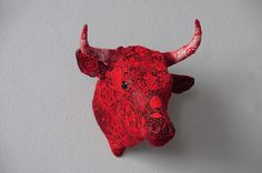 Animal Sculptures Covered with Complex Crochet Patterns #crochet #knit #art