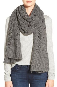 Modena Open Stitch Blanket Scarf available at #Nordstrom