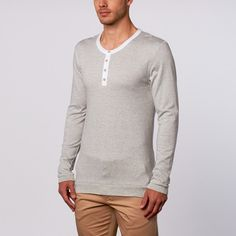 Patrick LS Henley//Grey+White at Touch of Modern!