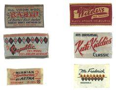 We're suckers for vintage garment labels.
