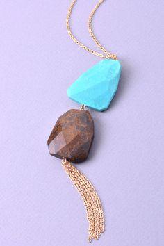 2 Stone Necklace #ShopMCE