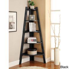 Kiki 5-tier Corner Ladder Display Bookcase   Overstock.com Shopping - The Best Deals on Media/Bookshelves