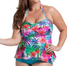 53f14f6f8b4 Catalina Women s Plus-Size Twist Bandeau Tankini Swimsuit Top