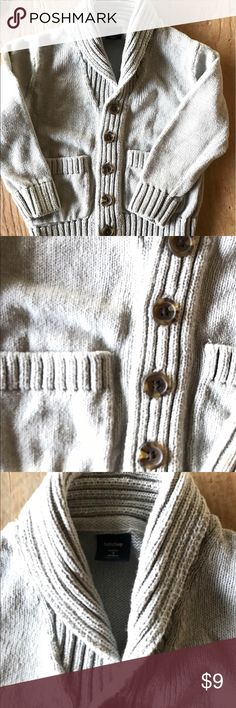 Baby Gap Shawl Collar Sweater (3T) Cotton cardigan. Well loved with lots of wear left. Always receive compliments on this one! No stains or tears. Smoke free home. GAP Shirts & Tops Sweaters