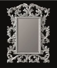 wall mirror traditional round in wood novecento