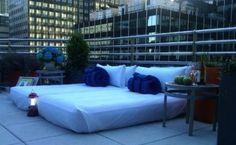 Dormindo sob céu de Manhattan... você faria? (Hotel:  Hyatt 48 Lex) Link: http://mikix.com/manhatta-acampamento-de-luxo/