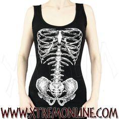 Camiseta de tirantes #Skeleton #horror